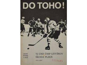 Program hokej, DO TOHO!, Litvínov v.Škoda Plzeň 1987