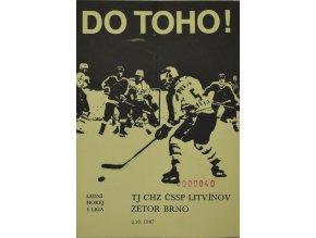 Program hokej, DO TOHO!, Litvínov v. Zetor Brno, 1987 II