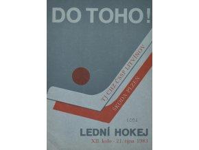 Program hokej, DO TOHO!, Litvínov v.Škoda Plzeň 1983