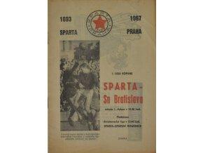 Program fotbal, SPARTA ZVL ŽILINA, 1967
