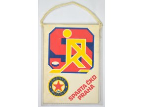 Klubová vlajka SPARTA ČKD PRAHA, lední hokej