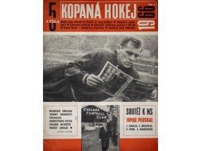 Časopis Kopaná Hokej, číslo. 5, 1966 (1) 1