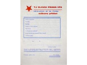 Vstupenka předplatná, TJ Slavia Praha IPS, 1985 II 3