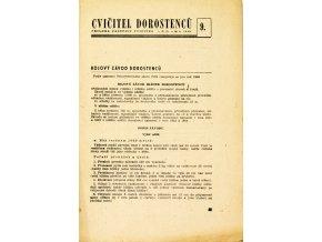 Sokol, Cvičitel dorostenců, č.9 1949