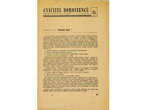 Sokol, Cvičitel dorostenců, č.15 1949