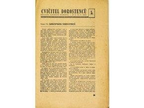 Sokol, Cvičitel dorostenců, č. 5 1949
