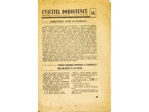 Sokol, Cvičitel dorostenců, č. 14 1949