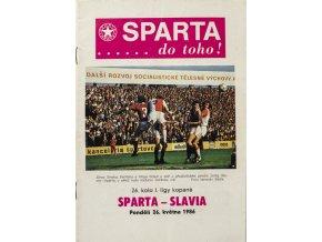 Program AC Sparta Praha vs. SK Slavia Praha, 1986Program AC Sparta Praha vs. SK Slavia Praha, 1986