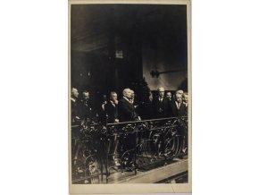 Fotopohlednice Jaroslav Preiss a další politici I. republiky (1)