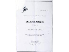 Parte plk. Emil Zátopek