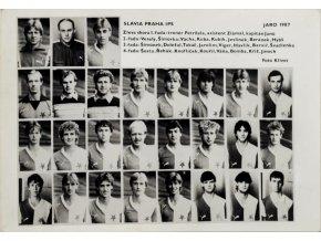 Fotografie ( portréty) SK Slavia Praha IPS, jaro 1974
