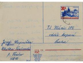 Korespondční lístek, blahopřání J. Bicanovi k 65. narozeninám (1)