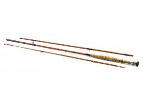 Rybářský prut, muškařský, bambus, třídílný