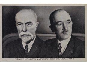 Pohlednice president osvoboditel TG Masaryka a president E. Beneš (1)