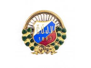 Odznak smalt, Česká ústřední jednota velocipedistů, 1883 (1)