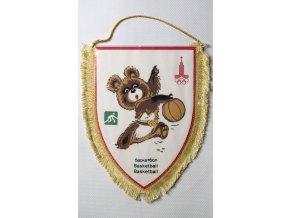 Vlajka klubová Olympiáda 1980 Moscow Basketball
