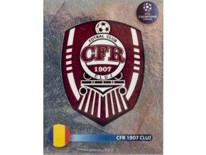 Officialní samolepka Champions league 200809, Panini, CFR 1907 CLUJ