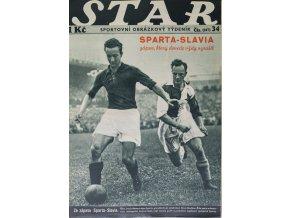 Časopis STAR, Sparta Slavia, zápas, který dovede vždy vzrušit, Č. 34 (597), 1937