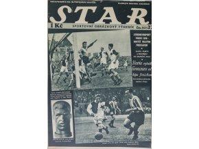 Časopis STAR, Slavia vyřadila Ferencvaros velkým finishem, Č. 27 (537), 1936