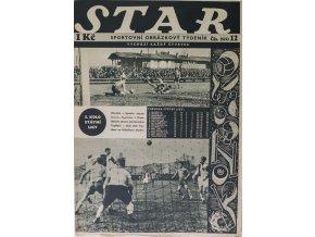Časopis STAR, Slavia v. Teplizer v Praze, Č. 12 (522), 1936