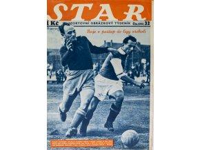 Časopis STAR, Boje o postup do ligy vrcholí, Č. 32 (595), 1937