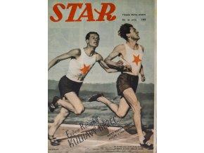 Časopis STAR, Evžen Rošický, kulhavý běžec, Č. 28 (643), 1938