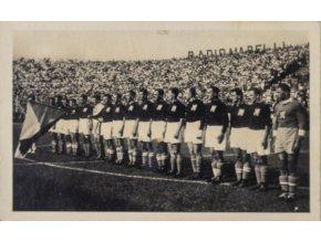 Pohlednice týmu, ČSL národní fotbalové mužstvo v Římě, 1934 (1)