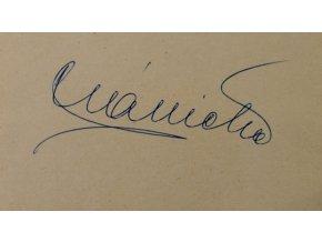 Sběratelská karta, podpis Plánička