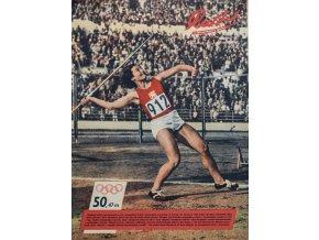 Časopis RUCH OH Helsinky, Dana Zátopková, 321952