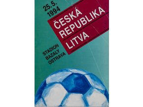 Program fotbal ČSSR vs. Litva 1994