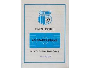 Program fotbal, AC Sparta Praha v. FK Ústí nad Labem, 1994