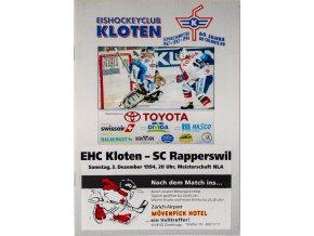 Program hokej, EHC Kloten v. SC Rapperswill, 1994