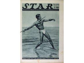 Časopis STAR, Oštěpař na břehu moře. Lyrika atletického pohybu Č. 23 (325), 1935