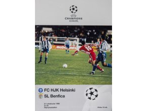 Program FC HJK Helsinky v. SL Benfica, 1998
