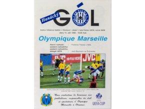 Program SK Sigma Olomoiuc v.Olympique Marseille, 1998