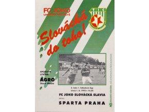 Program Slovácká Slavia v. Sparta Praha, 1995