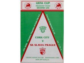 Program Cork City v SK Slavia Prague, 1994 (1)