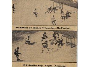 Výstřižek z novin Momentka z boje Švýcarsko v. Maďarsko, 1938