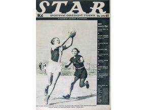 Časopis STAR, Česká házená pronika do světa Č. 41 ( 499 ), 1935 (1)