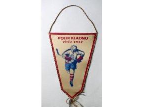 Klubová vlajka Poldi Kladno Vítěz PMEZ