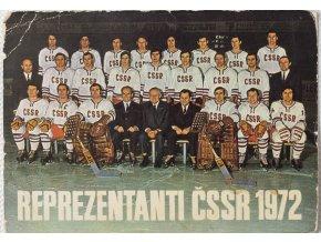 Fotopohlednice, Reprezentanti ČSSR hokej, 1972 (2)