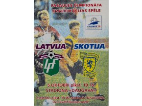 Program Latvija v. Skotija, U21, 1997