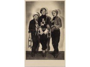 Dobová pohlednice, Bruslařky (1)