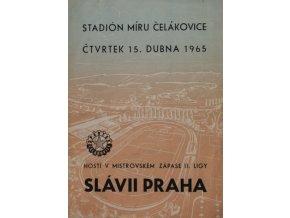Program, Spartak Čelákovice v. Slávia Praha, 1965 (1)