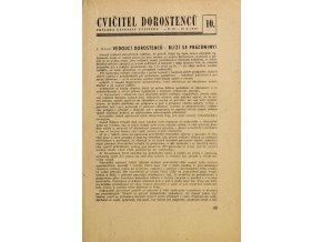 Sokol, Cvičitel dorostenců, č. 10/ 1949