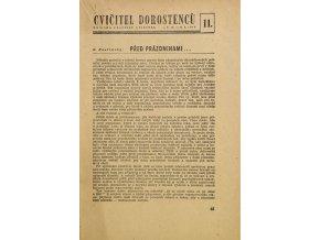 Sokol, Cvičitel dorostenců, č. 11/ 1949