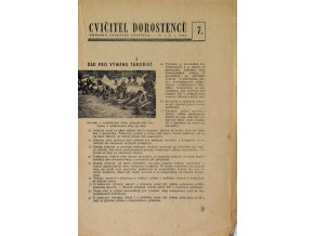Sokol, Cvičitel dorostenců, č. 7 1949