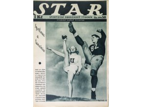Časopis STAR, Sportovec a tanečnice č. 50 ( 650 ), 1936 (1)
