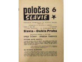 POLOČAS SLAVIA Praha vs. Dukla Praha, 1965