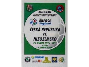 Program fotbal ČR vs. Nizozemsko, 1995
